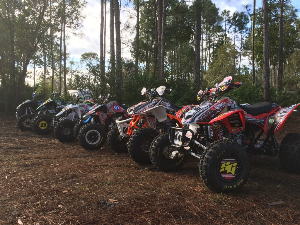 Quads lined up before the race.